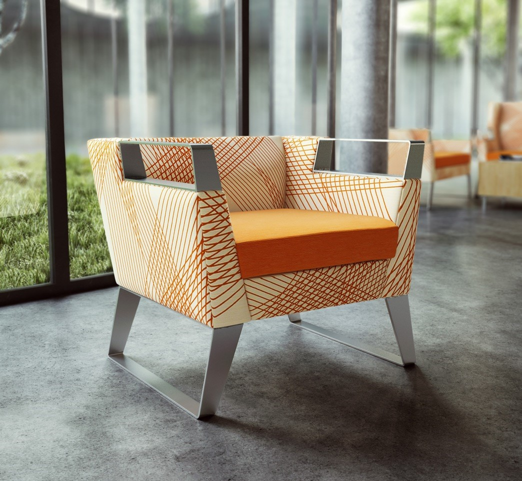 Momentum Crossing Colors Textile gives Clarke Seating a Pop of Color