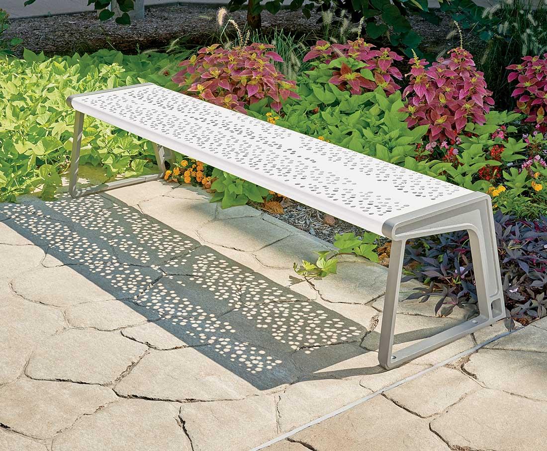 White Airi Stix Bench